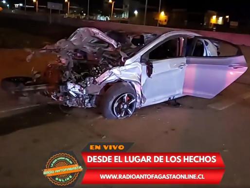 VIDEO | 3 LESIONADOS GRAVES, EYECTADOS, DEJÓ VOLCAMIENTO DE VEHÍCULO MENOR EN SECTOR NORTE LA CIUDAD