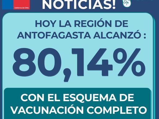 POR FIN!!!. REGIÓN DE ANTOFAGASTA ALCANZA UN 80.14% Y SE ESPERA ANUNCIO DE CAMBIO EN TOQUE DE QUEDA
