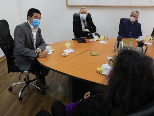 Colegio de Profesores y directiva visitó a Alcalde de Antofagasta Jonathan Velásquez Ramírez