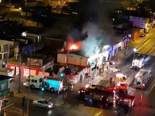 [VIDEO] INCENDIO AFECTÓ A LOCAL COMERCIAL DE COMIDA CHINA EN SALVADOR ALLENDE CON RENDIC
