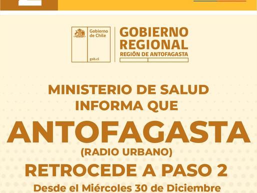 POR ALZA DE CONTAGIOS ANTOFAGASTA RETROCEDE A PASO 2