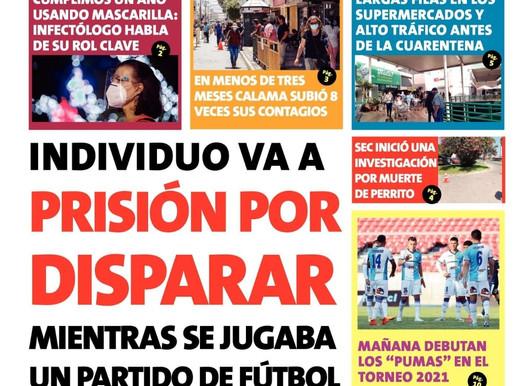 TITULARES DE LA PRENSA ESCRITA PARA HOY SÁBADO 27 DE MARZO