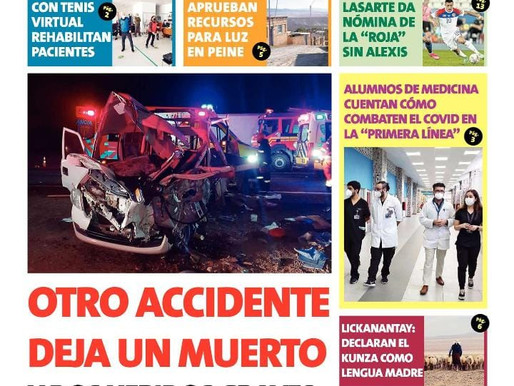 LAS PORTADAS DE LA PRENSA ESCRITA REGIONAL PARA HOY MARTES 24 DE AGOSTO