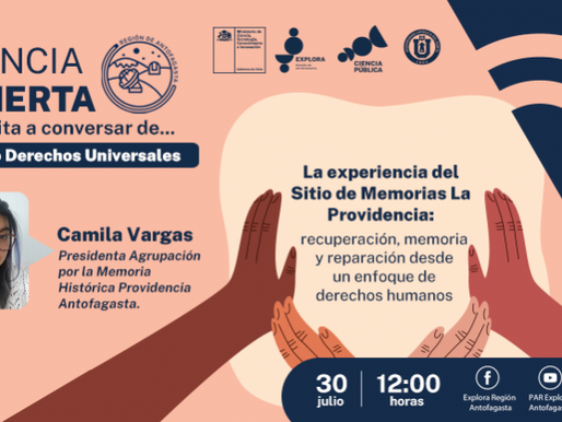 Explora Región Antofagasta realizará el tercer encuentro del ciclo ''Derechos universales''