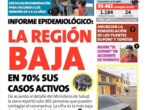 LAS PORTADAS DE LA PRENSA ESCRITA DE LA REGIÓN DE ANTOFAGASTA PARA HOY LUNES 26 DE JULIO