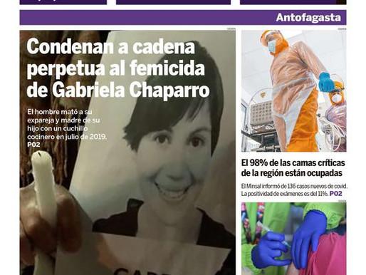 PORTADAS DE LOS DIARIOS TRADICIONALES DE LA REGIÓN DE ANTOFAGASTA (4 DE MARZO)