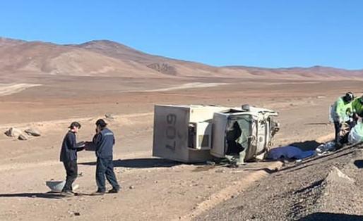 UN FALLECIDO FUE EL SALDO DE  VOLCAMIENTO DE CAMIÓN 3/4 EN RUTA B-710 CAMINO A PAPOSO