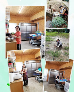 Preparing food for the farm family!