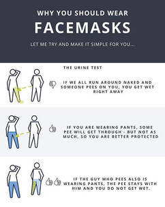 Hahaha... It makes sense. Let's wear masks for our community!