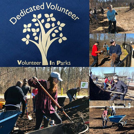 Community service at the park