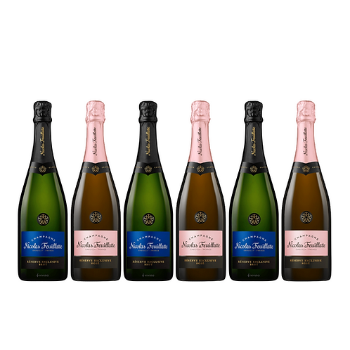 Champagne Xmas pack of 6