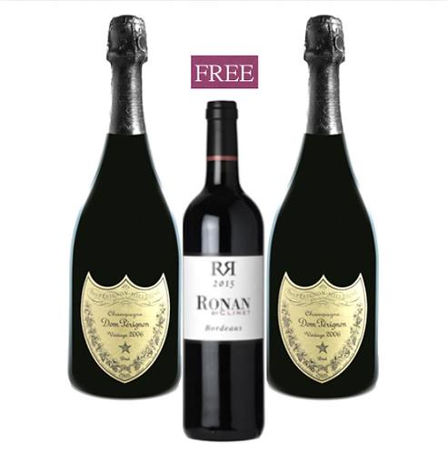 Dom Perignon 2009 x 2 + Free Ronan by Clinet