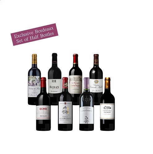 Exclusive Bordeaux  Set of Half Bottles x 8