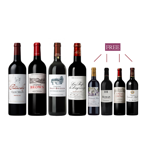 Bordeaux  Discovery Set of 75 CL x 4+ free 35CL x 4