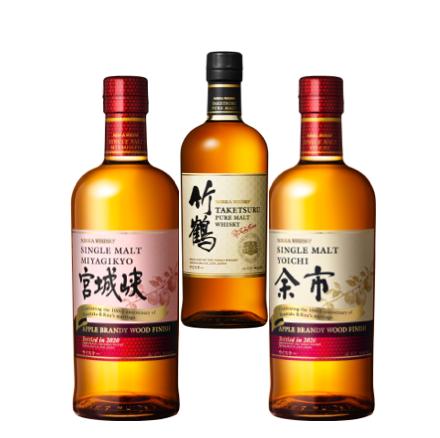 Yoichi + Miyagikyo Apple Brandy Wood Finish (Limited) + Taketsuru Pure Malt NEW