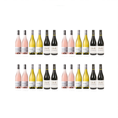 Party Wine ROSE WHITE RED x 24