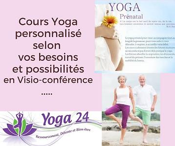 Cours Yoga 24 personnalisé en Visio-conférencen