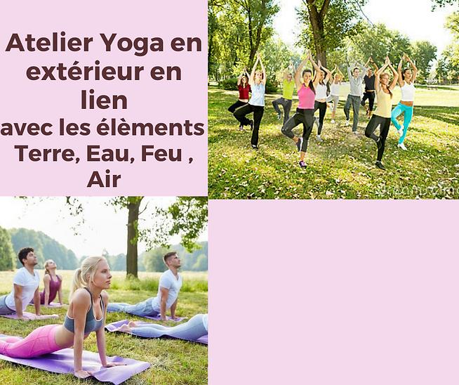 _Atelier Yoga en extérieur en lien avec