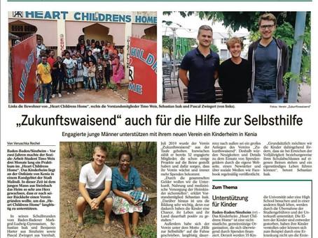 Zukunftswaisend im Badischen Tagblatt!