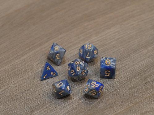 Grey Blue Marble