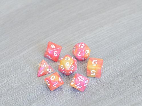 Orange Pink Marble