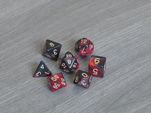 Black Red Marble