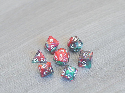 Red Green Marble