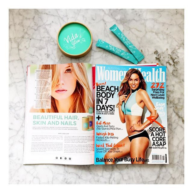 Vida Glow featured in the November issue