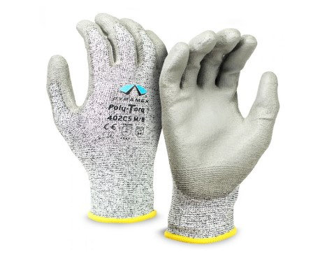 Pyramex Cut-Resistant, Poly-Torq Series Gloves, GL402C5 Series