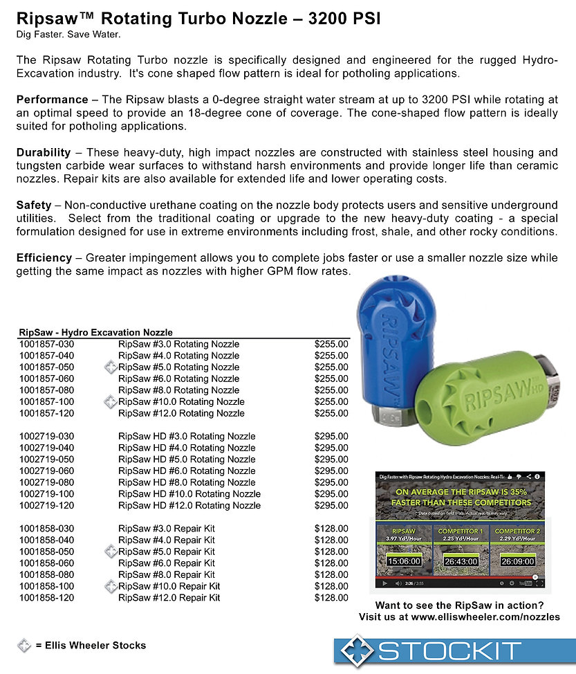 Hyraflex RipSaw Hydro Excavatin Nozzle Nebraska utility marking paint trace wire supply marking tape hydro vac nozzles nebraska utility damage prevention products undrground safety products whiskers stake all whiskers stake chaser whiskers survey paint inverted marking paint Nebraska Kansas Iowa South Dakota Midwest markin supplies Ellis Wheeler utility products underground locating cable locators metal detectors nebraska tracer anode tracer wire fittings hydraflex ripsaw hydrovac nozzles hydraflex switchblade nozzles hydraflex aqua rocket nozzles powe washer tubes power washer guns pressure washer wands pressure washer lances telescoping wand Nebraska 811 safety products marking inverted neon paint