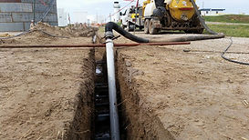 hydro vacuum excavation gas transmission