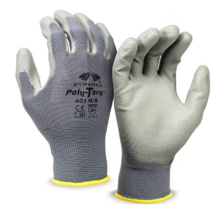 Pyramex Nylon-Lined, Poly-Torq Series Gloves, GL401 Series
