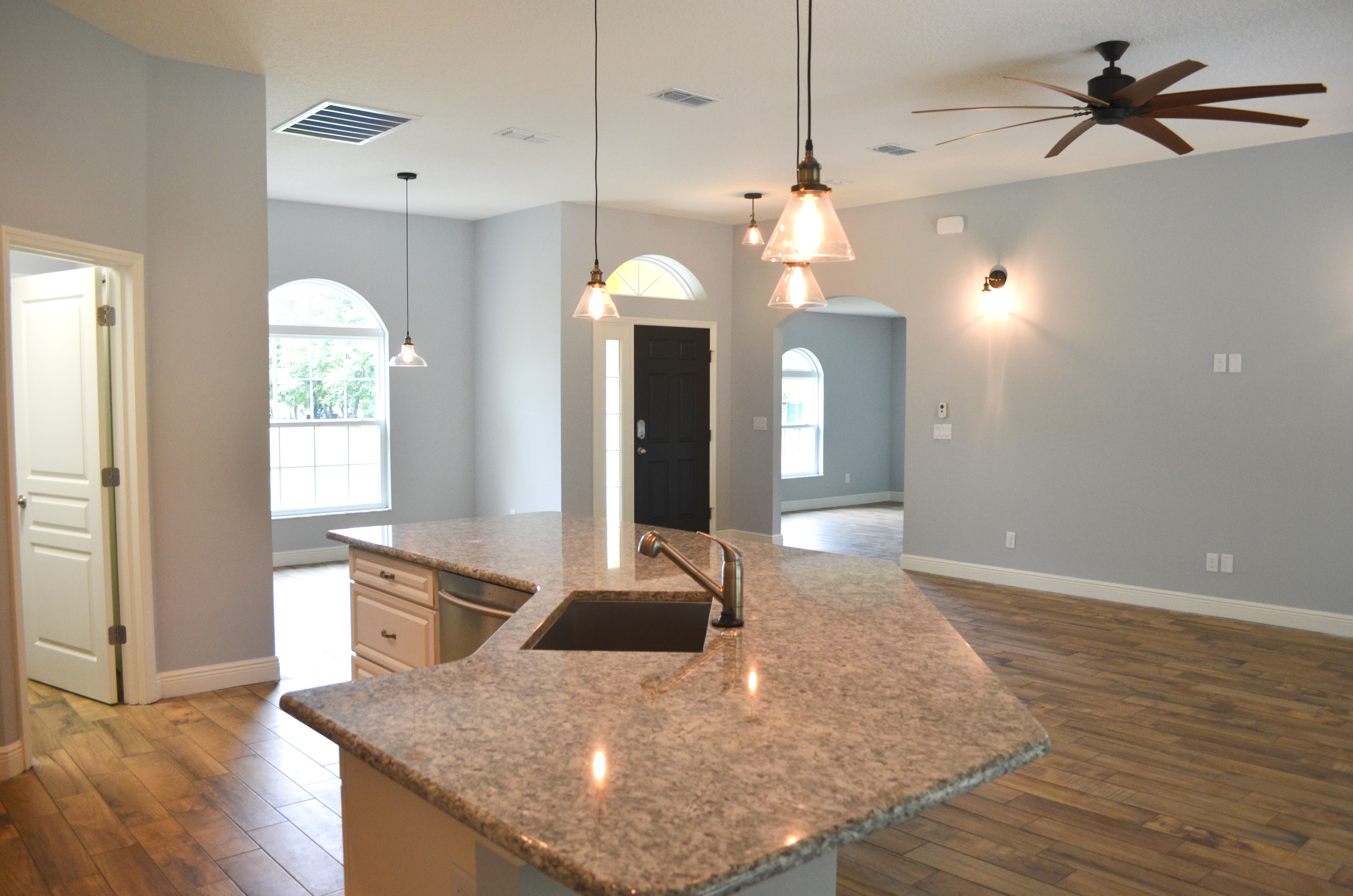 Kitchen Island in Great Room
