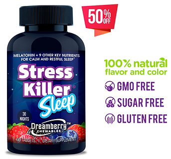 Stress Killer® SLEEP Dreamberry chewables     (30 nights)