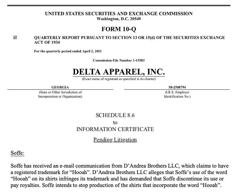 Delta Apparel recognizes Dandrea Brothers LLC HOOAH mark.jpg