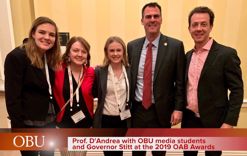 Prof Dandrea and students at 2019 OAB Aw