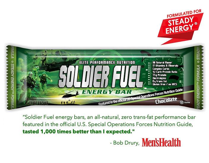 Soldier Fuel® SteadyEnergy® high-performance bars (box of 15)