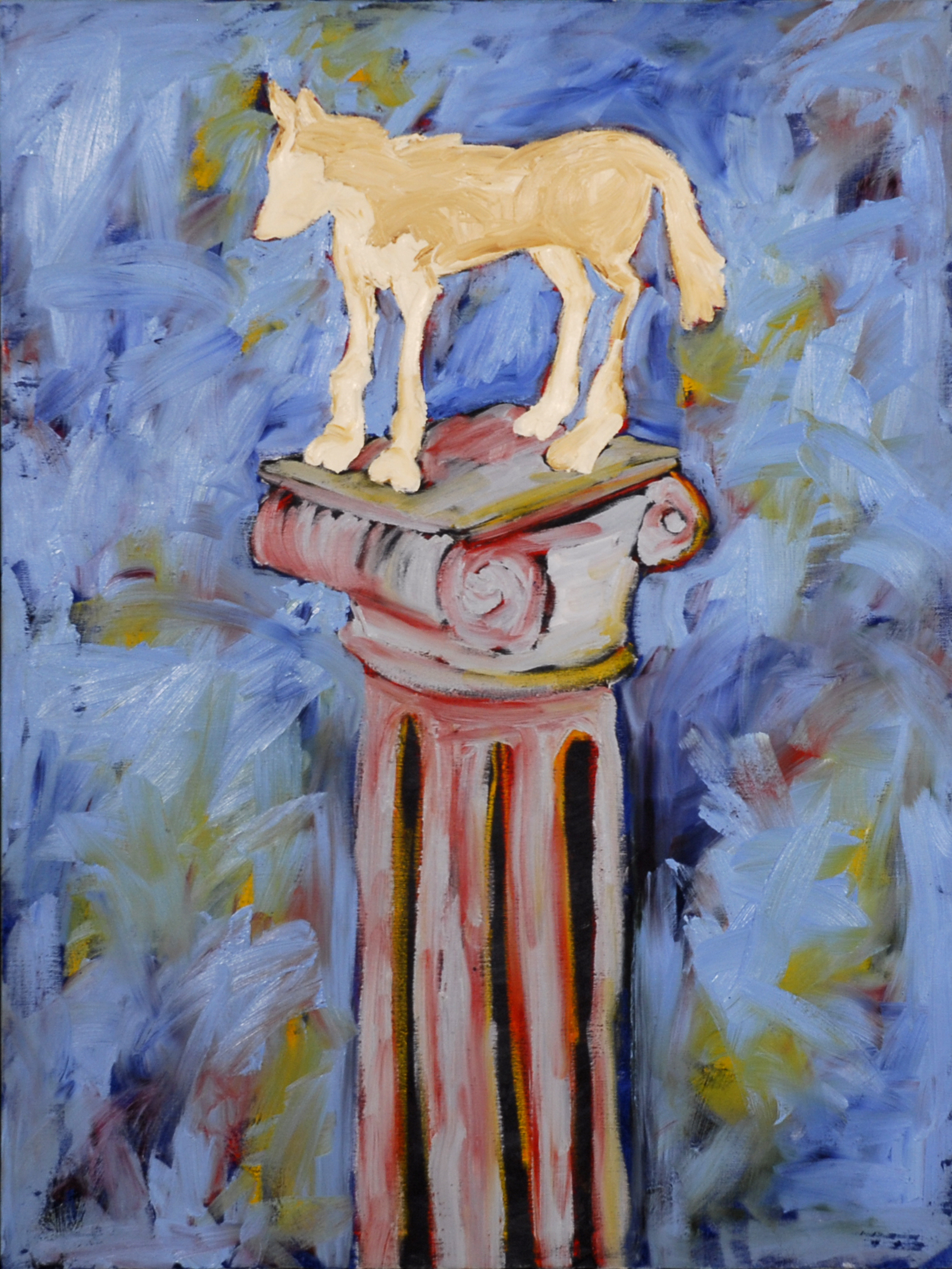 "Up on a Pedestal  30""x 40"".JPG"