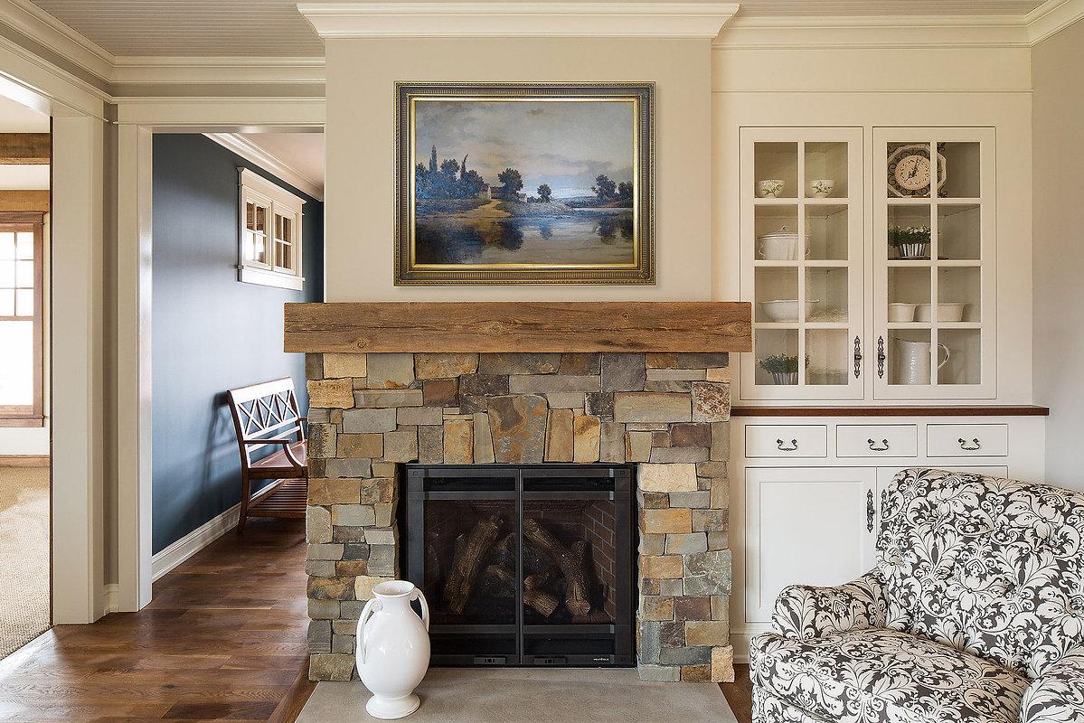 Greek Revival Farmhouse Living Room