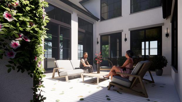 Courtyard Contemporary
