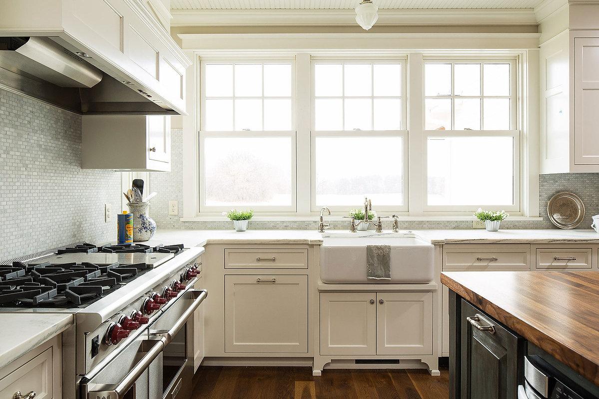 Greek Revival Farmhouse Kitchen