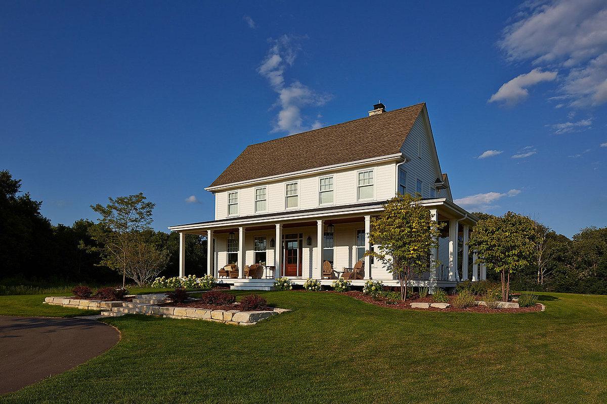 Greek Revival Farmhouse Exterior