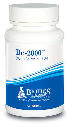 B12-2000 Lozenges (60 Lozenges) Biotics Research Corporation