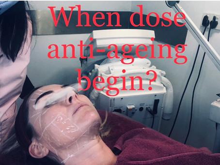 When dose Anti-ageing begin?