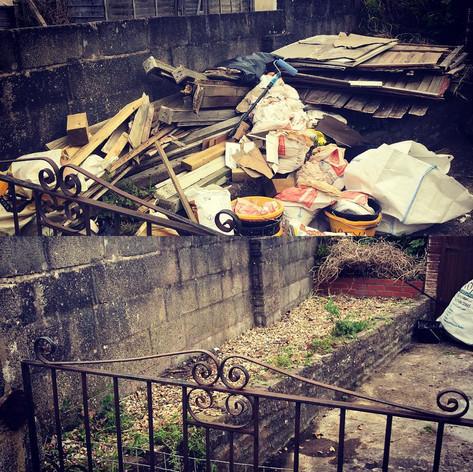 Waste taken away