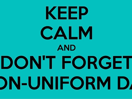 Non-uniform Day Wednesday 6th July