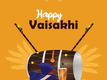 Vaisakhi celebrations: Thursday 1st April