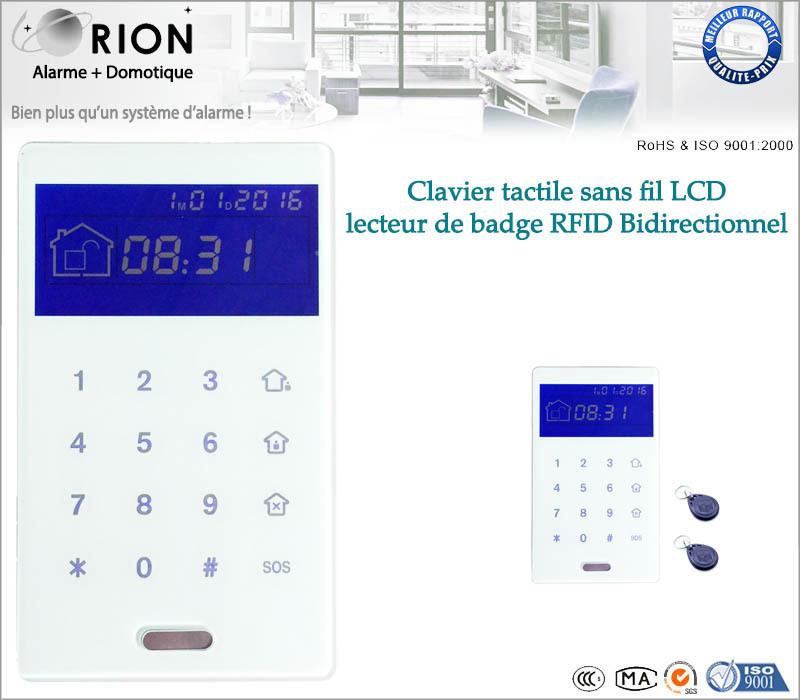 Clavier Tactile lecteur de badges + 4 Badges