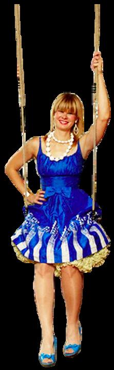 Jennifer Earle on swing