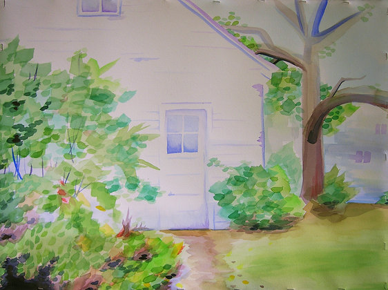 """Garage"" Original Painting"